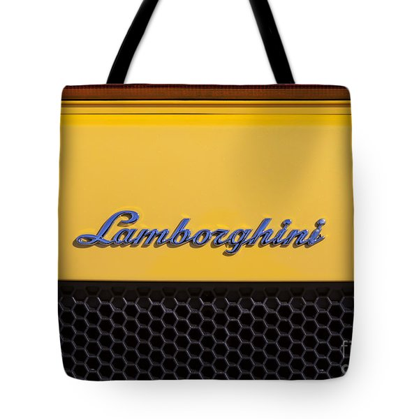 Lamborghini Tote Bag by David Millenheft