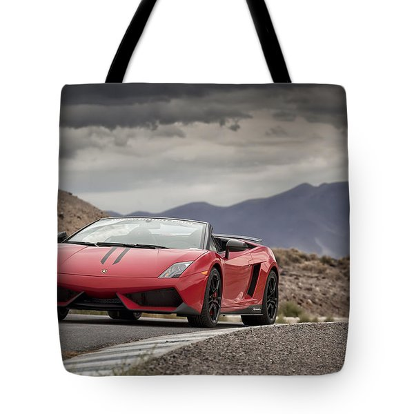 Lamborghini Gallardo Lp570-4 Spyder Performante Tote Bag