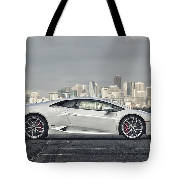 Tote Bag featuring the photograph Lamborghini Huracan by ItzKirb Photography
