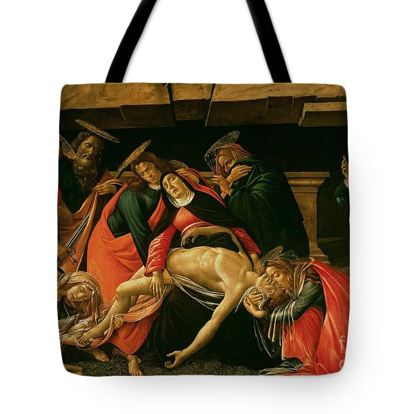 Lamentation Of Christ Tote Bag