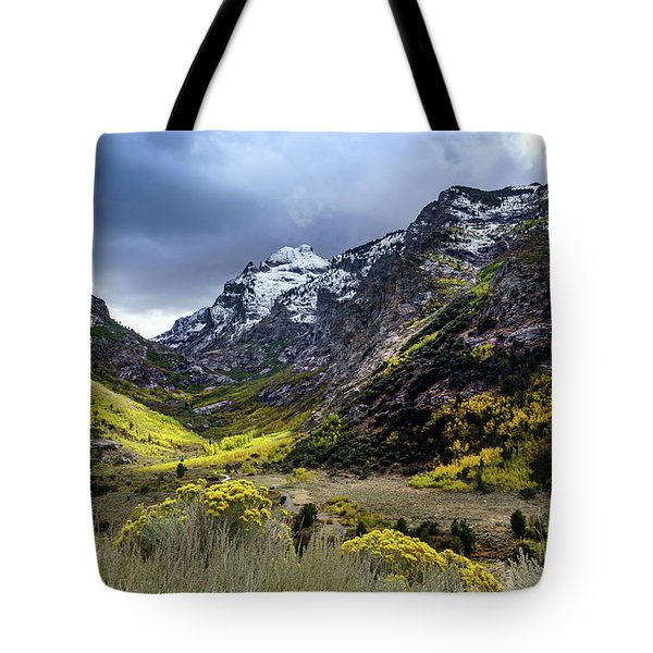Lamoille Canyon In Fall Tote Bag