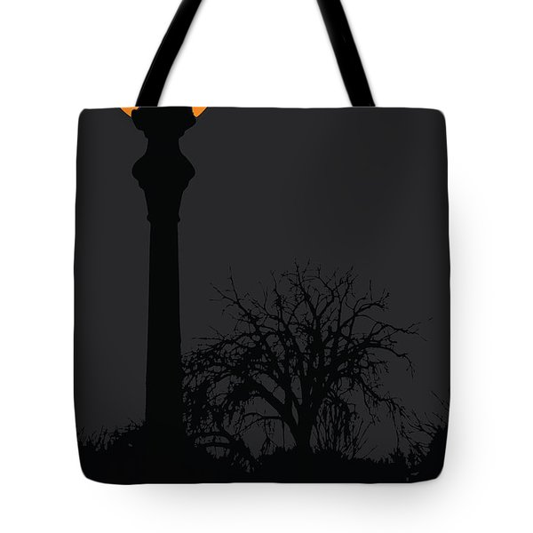 Lamp At Night Tote Bag