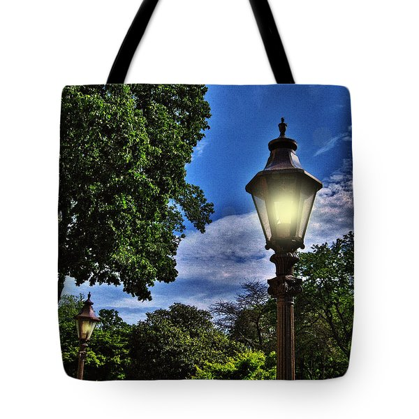 Lamposts Tote Bag by Mikki Cucuzzo