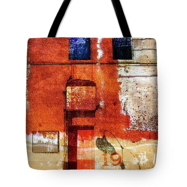 Lamppost Shadow Tote Bag