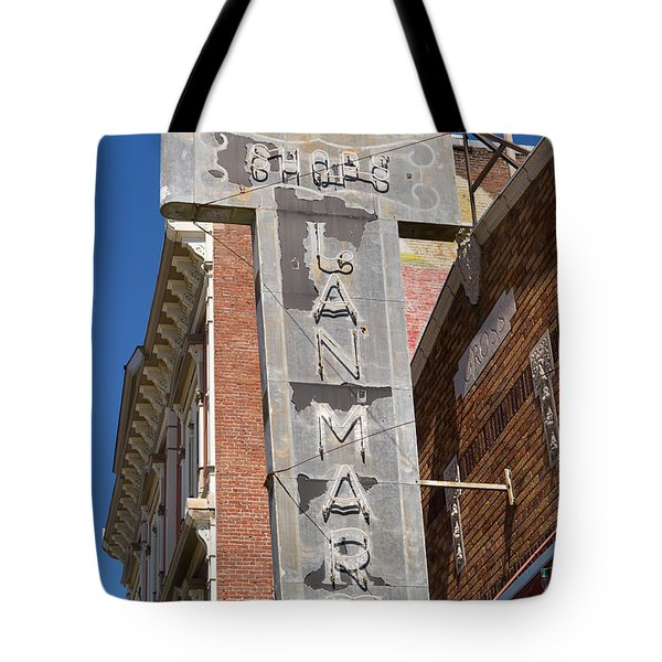 Lan Mart Building In Petaluma California Usa Dsc3772 Tote Bag