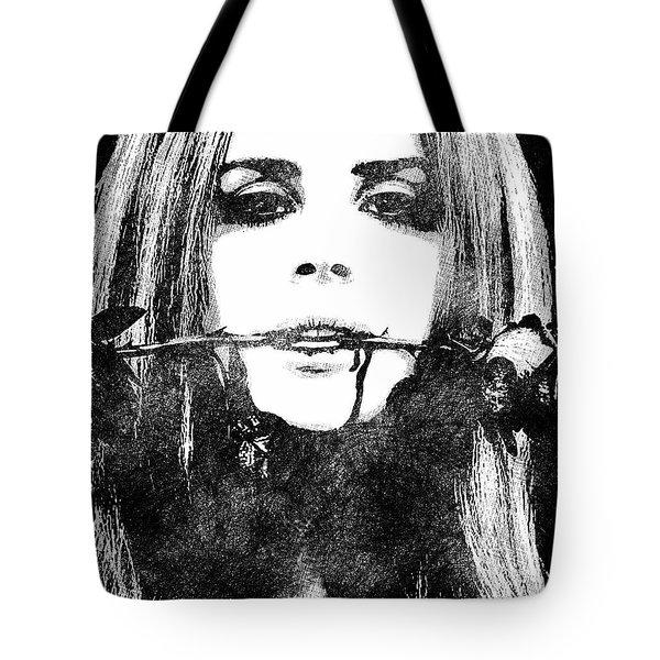 Lana Del Rey Bw Portrait Tote Bag