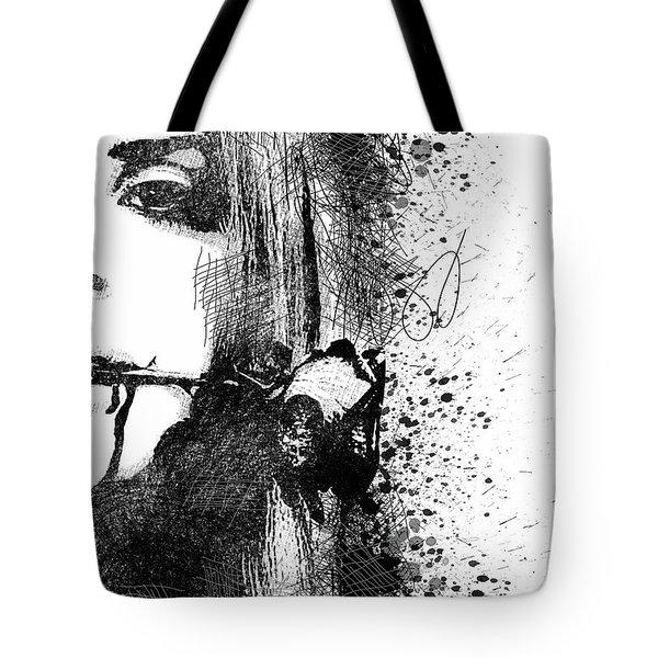 Lana Del Rey Half Face Portrait 2 Tote Bag