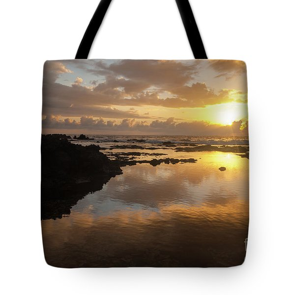 Lanai Sunset #1 Tote Bag