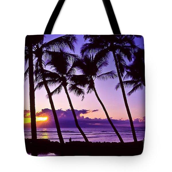 Lanai Sunset Tote Bag
