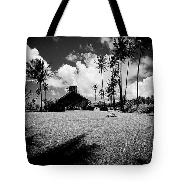 Tote Bag featuring the photograph Lanakila Ihiihi O Iehowa O Na Kaua Church Keanae Maui Hawaii by Sharon Mau