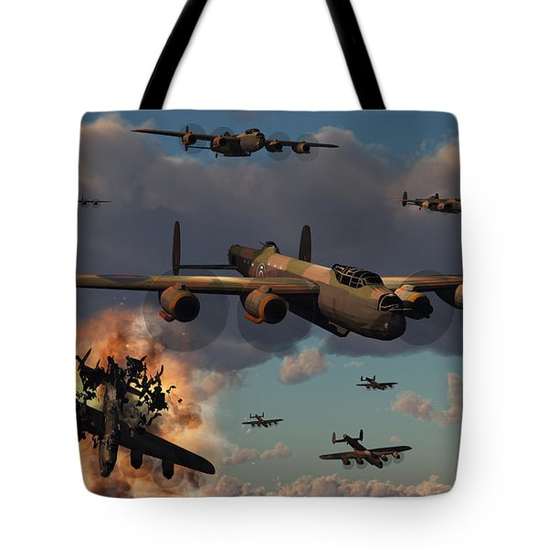 Lancaster Heavy Bombers Of The Royal Tote Bag by Mark Stevenson