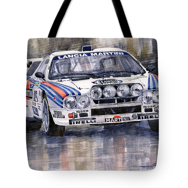 Lancia 037 Martini Rally 1983 Tote Bag by Yuriy  Shevchuk