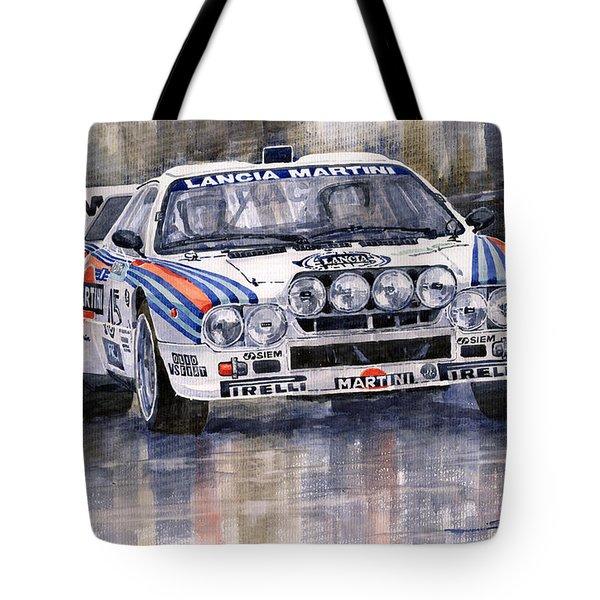 Lancia 037 Martini Rally 1983 Tote Bag