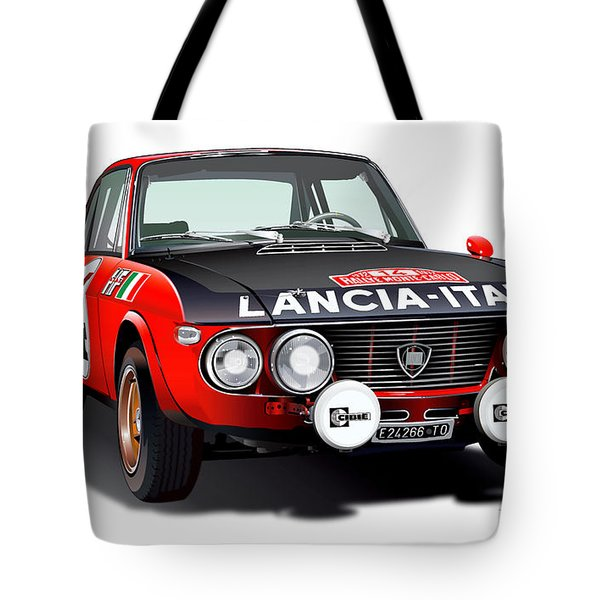 Lancia Fulvia Hf Illustration Tote Bag