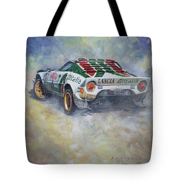 Lancia Stratos 1976 Rallye Sanremo Tote Bag