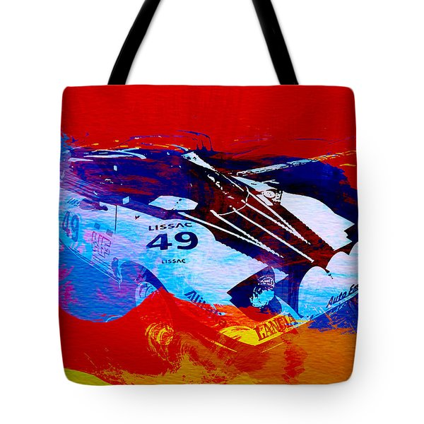 Lancia Stratos Watercolor 2 Tote Bag by Naxart Studio