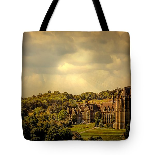 Tote Bag featuring the photograph Lancing College by Chris Lord