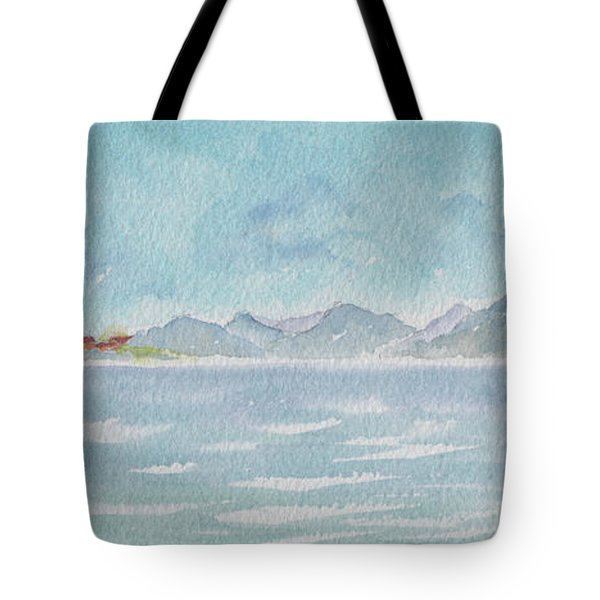 Tote Bag featuring the painting Land Ahoy Cruising By Cuba by Pat Katz