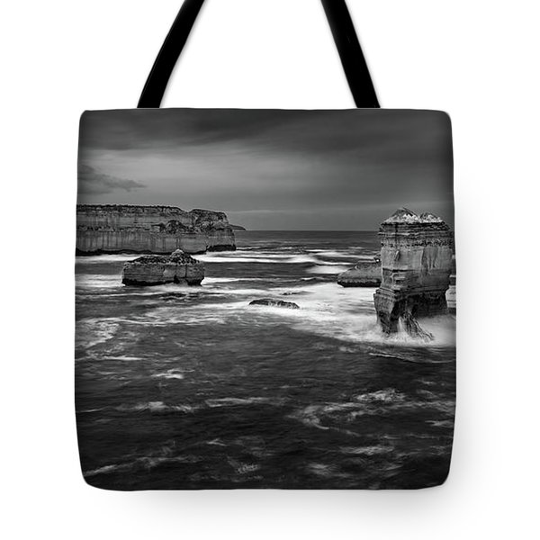 Land And Sea Tote Bag by Mark Lucey