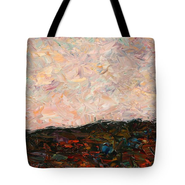 Land And Sky Tote Bag by James W Johnson
