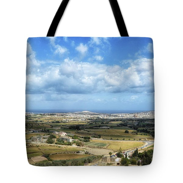 Land And Sky Tote Bag by Stephan Grixti