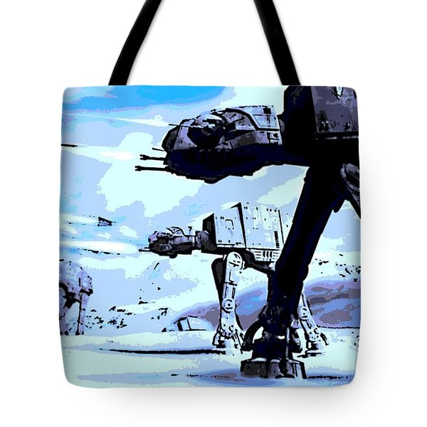Land Battle Tote Bag by George Pedro
