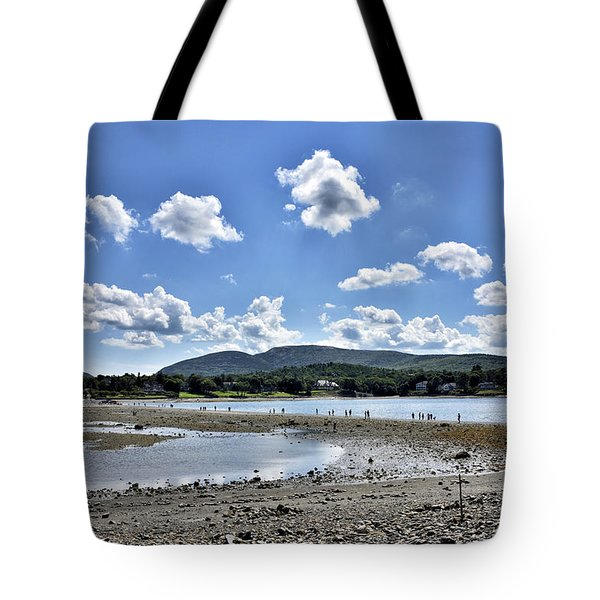 Land Bridge From Bar Harbor To Bar Island - Maine Tote Bag