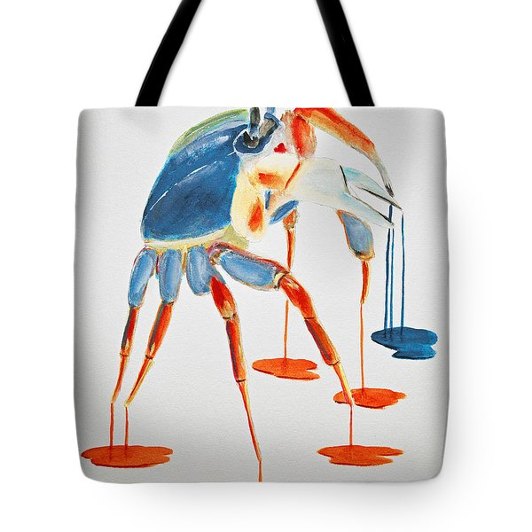 Land Crab Fight Stance Tote Bag