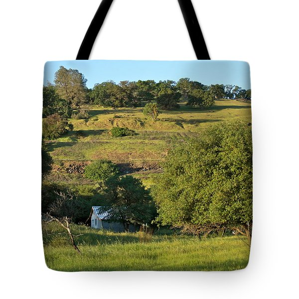 Tote Bag featuring the photograph Land Of Blue House by Michele Myers