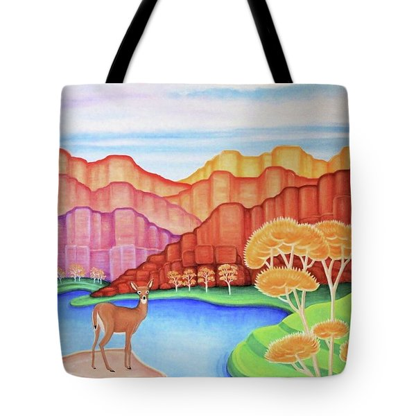 Land Of Enchantment Tote Bag by Tracy Dennison