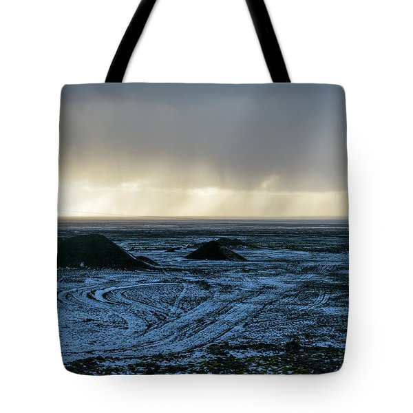 Tote Bag featuring the photograph land of Lava by Dubi Roman