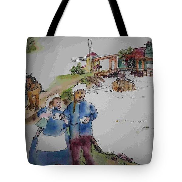 Land Of Windmill Clogs  And Tulips Album Tote Bag