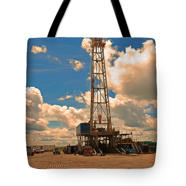 Land Oil Rig Tote Bag
