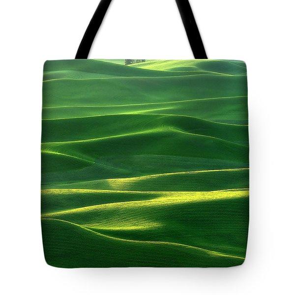 Land Waves Tote Bag by Ryan Manuel