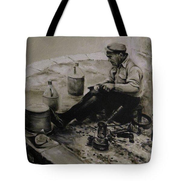 Landier.  Tinsmith. Tote Bag