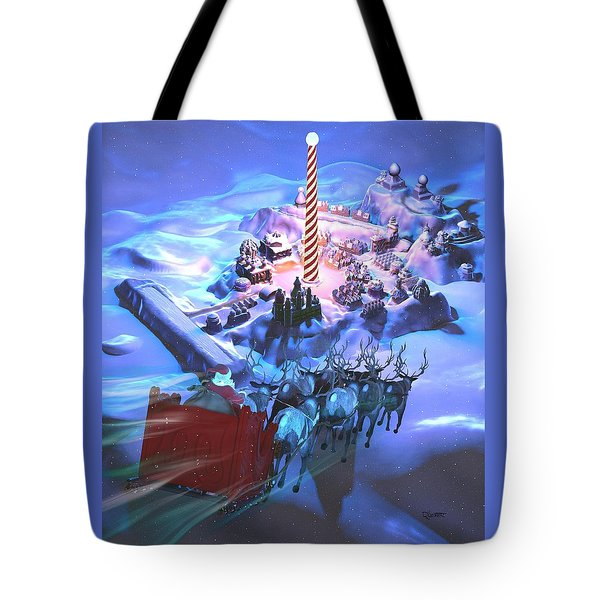 Landing At The North Pole Tote Bag by Dave Luebbert