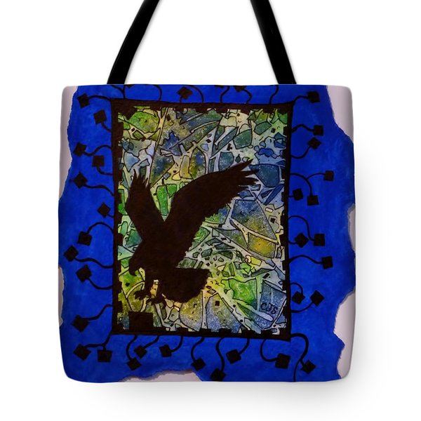 Landing Eagle Silhouette Tote Bag