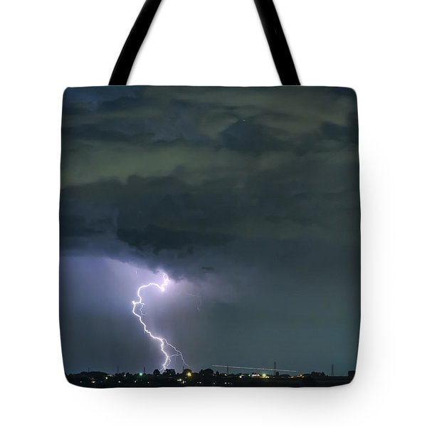 Tote Bag featuring the photograph Landing In A Storm by James BO Insogna