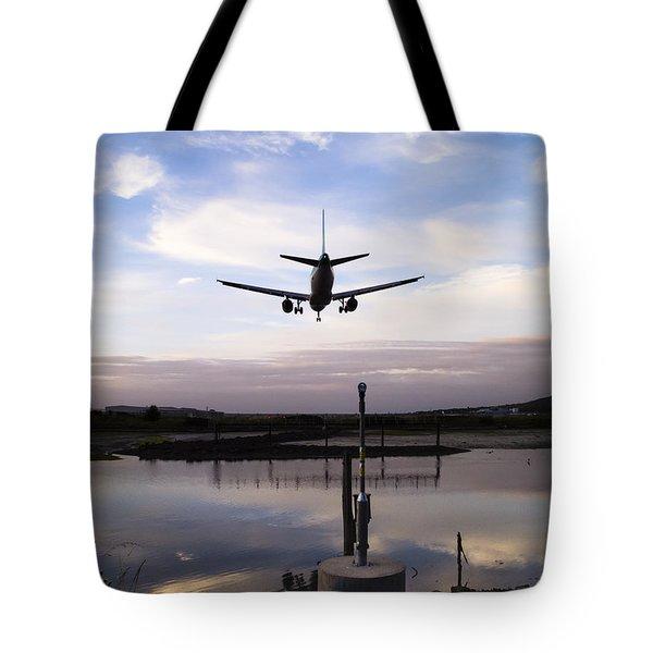 Landing In George Best Tote Bag