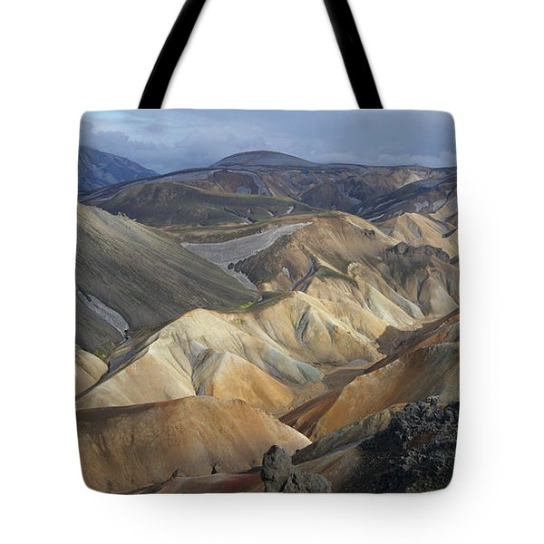 Landmannalaugar Rhyolite Mountains Iceland Tote Bag