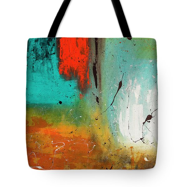 Tote Bag featuring the painting Landmarks by Carmen Guedez