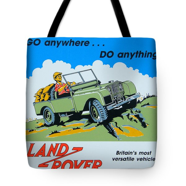 Landrover Advert - Go Anywhere.....do Anything Tote Bag