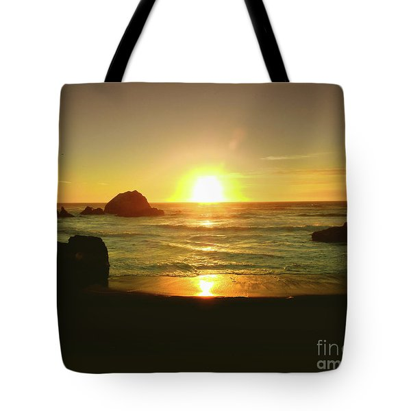 Lands End Sunset-the Golden Hour Tote Bag