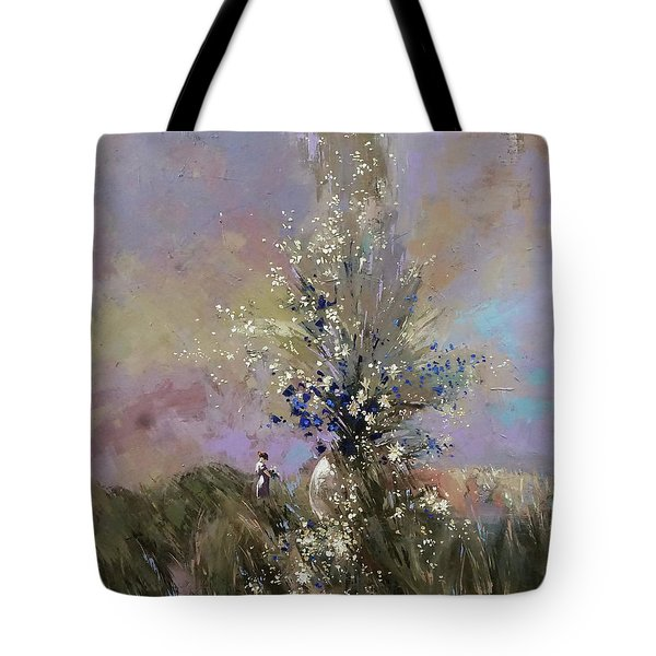 Landscape . I Was Lucky Today. Tote Bag