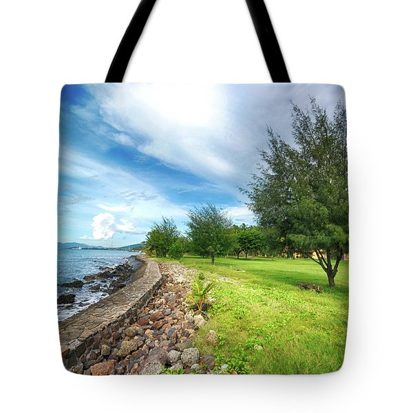Tote Bag featuring the photograph Landscape 2 by Charuhas Images