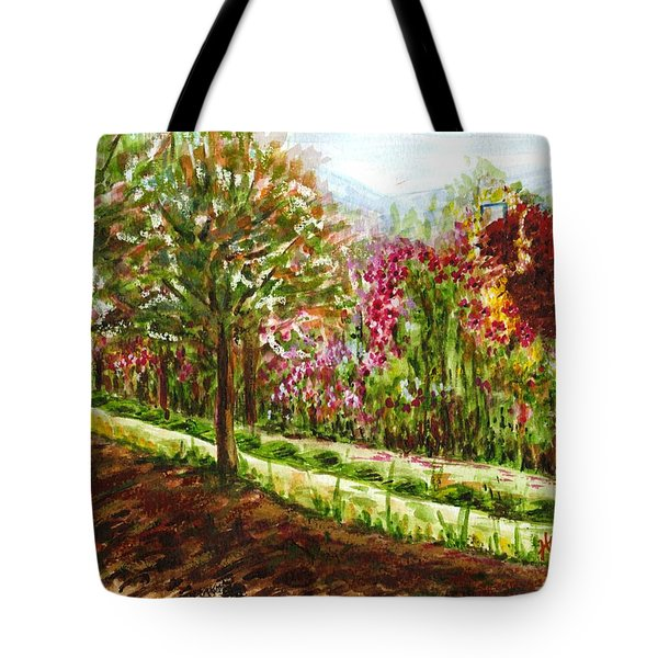 Tote Bag featuring the painting Landscape 2 by Harsh Malik