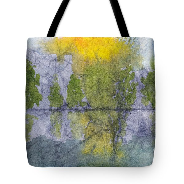 Landscape Reflection Abstraction On Masa Paper Tote Bag