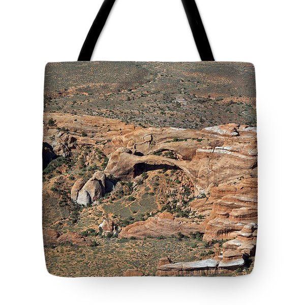 Landscape Arch In Arches National Park Tote Bag