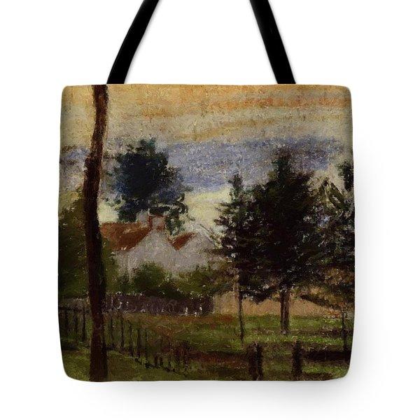 Landscape At Louveciennes Tote Bag
