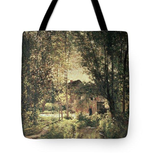 Landscape Tote Bag by Charles Francois Daubigny